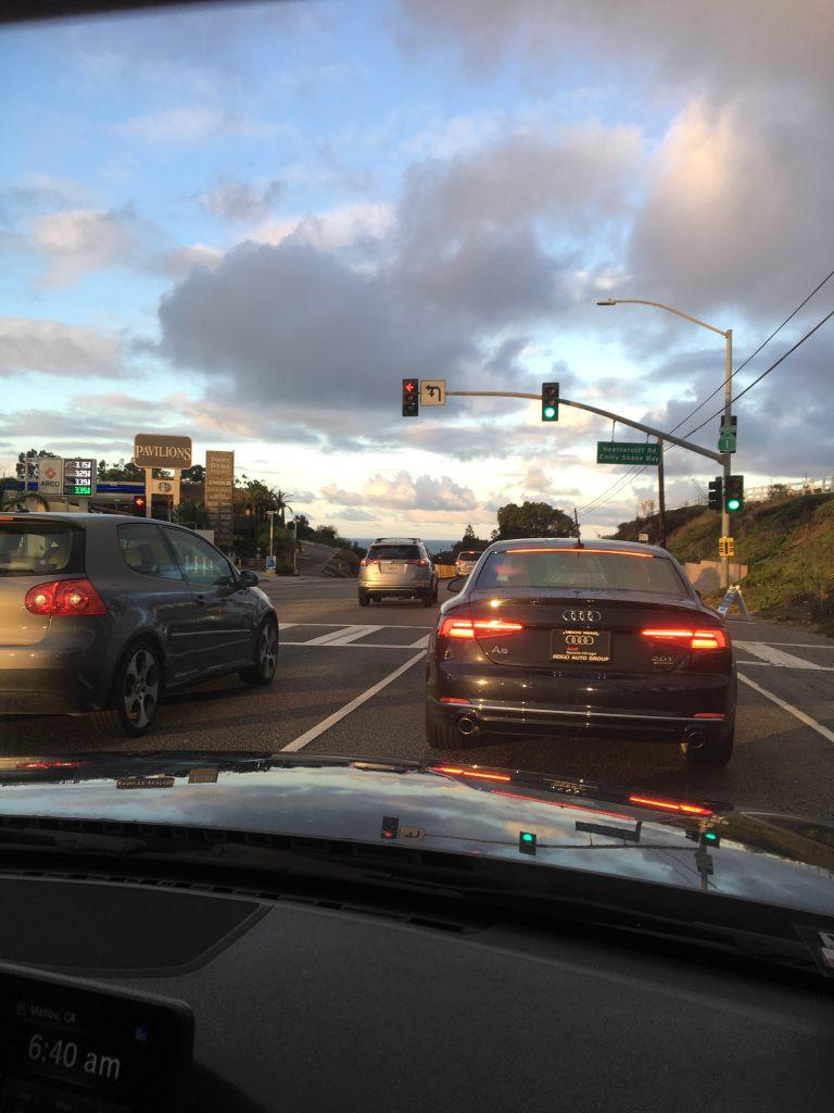 Malibu Half Marathon traffic pic1